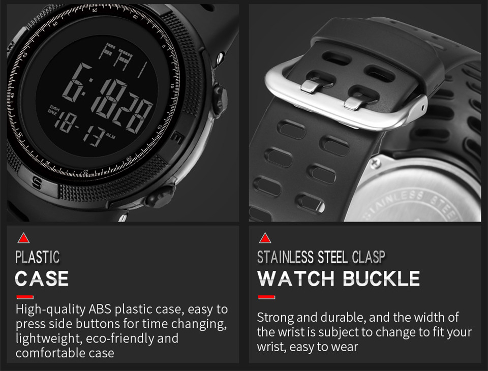 Sports Electronic Watches Men Countdown Double Time Watch Alarm Chrono Digital Wristwatches 50M Waterproof Outdoor Running Watch (12)