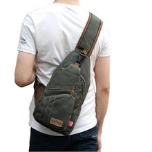 Shoulder Chest Bag Back Sling pack Men Messenger Travel Hiking Cross Body Canvas недорго, оригинальная цена