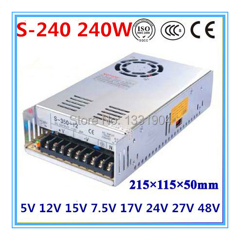 single output switching power supply S-240,240W AC input, output voltage 5V,12V.15V,24V.. without dial switch single switching switch power supply output 3 1a 24v input 115 230 vac co2 laser led