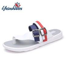 YEINSHAARS Men Summer Water Shoes Male Flip Flops Beach Comfortable Travel Slippers Flats