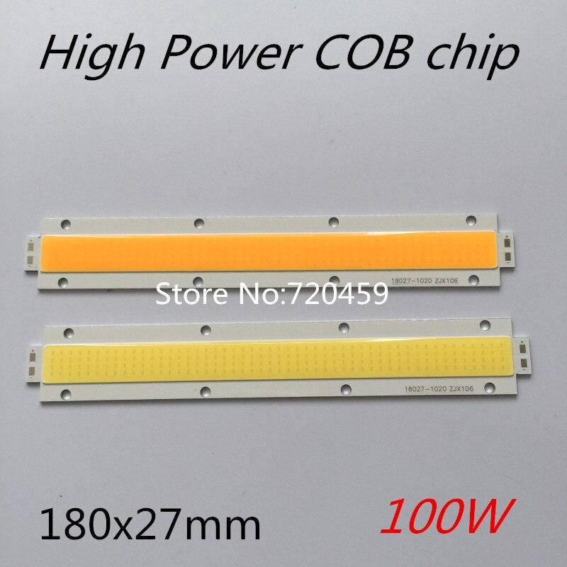 High Power COB chip 100W LED COB Bulb Lamp Light Strip source Light Lamp Chip For LED Flood Light DC30-33V