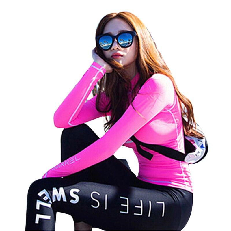 Women Hot Sexy Long Sleeve Rash Guard Crochet Swimwear Surfing Suit 2017  New Style Wetsuit Bathing Suit Swimsuit Beachwear-in Rash Guard from Sports  ... ecc16866a