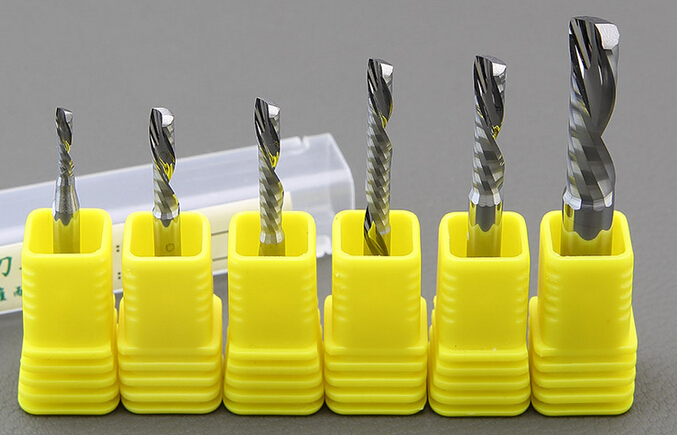 Free shipping 5pcs 6 22mm left handed single flute bits Down Cut carbide endmill Left Handed