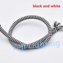 Яркий кабель в оплетке Ретро подвесной провод двухъядерный Эдисон Ретро лампочки шнур 0,75 мм электрические провода потолок Роза навес