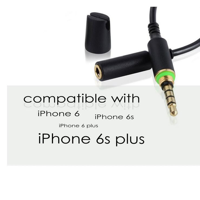 buy popular 43ca0 18c83 LBSC2 Pack Waterproof Headphone Cable 3.5mm Audio Adapter for Lifeproof Fre  and Nuud Case of iPhone 6/6 Plus, 6S/6S Plus (Black)-in Audio & Video ...