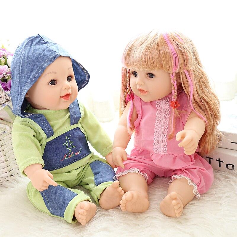 ZOTOONE 50 cm Reborn Simulation Baby Doll Enfants Poupées Jouet Doux Nouveau-Né Garçon Fille D'anniversaire Cadeau Imité Enfants Bébé Reborn poupées