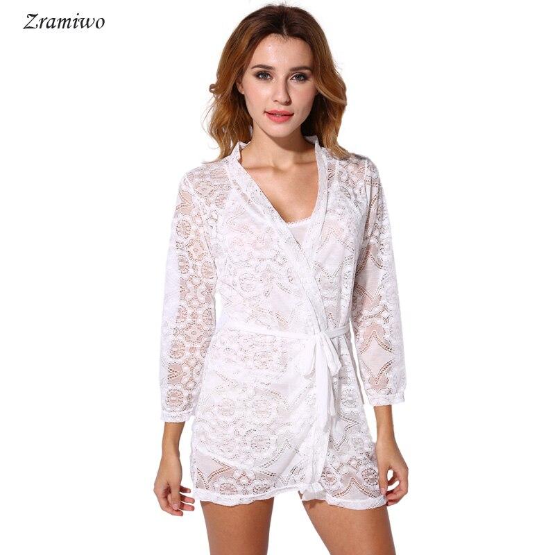 Spitze Kurze Robe Vintage Chemise Comfy Pyjamas Braut Nachthemd Romantische Nachthemd Floral Kimono