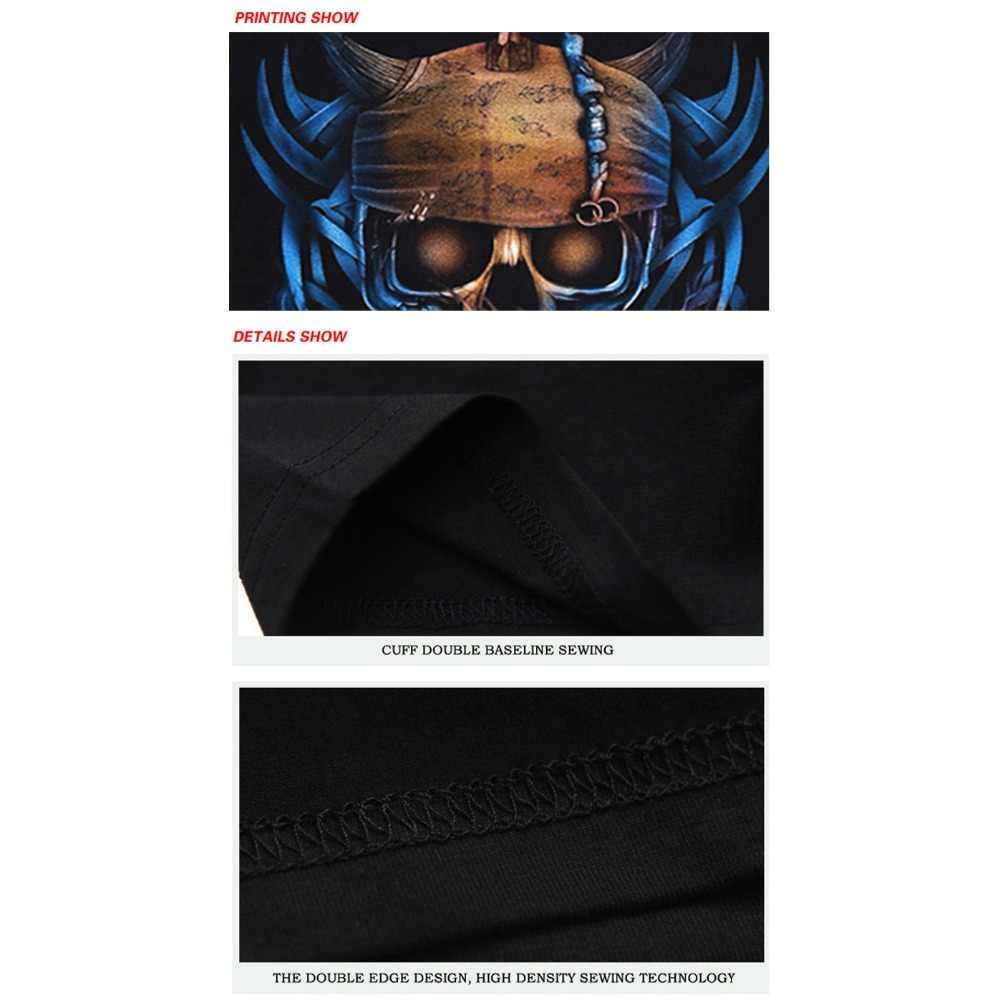 ba3471c3 ... YK UNCLE Hip Hop Punk Rock Style Men T shirt 3D Pirate Skulls  Motorcycle Printed Cool