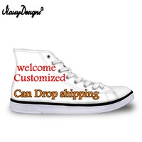 Drop Shipping Custom Images Men's Women Vulcanize Shoes Classic Superstar High Top Canvas Shoes Men Flat Sneakers Wholesale