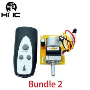 Image 4 - הגרסה האחרונה HiFi אינפרא אדום שלט רחוק נפח שליטה להתאים לוח APLS מגבר קדם מגבר מנוע פוטנציומטר מתאימה נפח