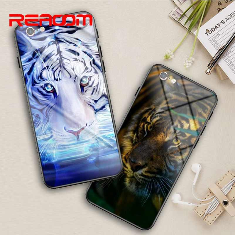 Luxury Phone Case for iPhone 6 6S Glass Cover Supreme Soft Silicone Pattern Case for iPhone X 10 8 7 Plus Funda for Apple 6splus