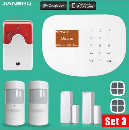 Original WIFI gsm font b alarm b font system Touch Keyboard IOS Android APP 433MHz Home