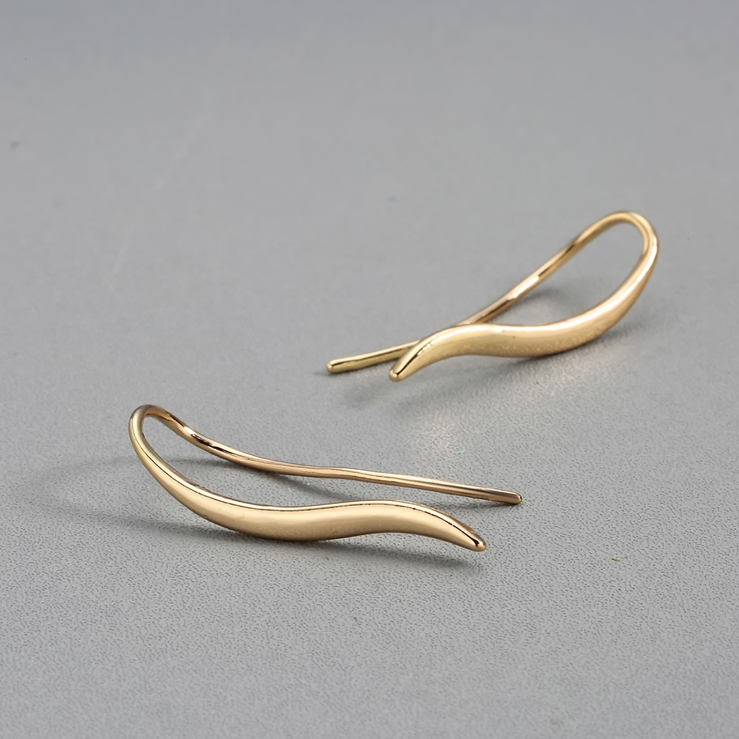 Todorova New Arrival Earrings Temperament Model Drop Earrings Female Metal S Curve Design Jewelry Earrings for Ladies 2