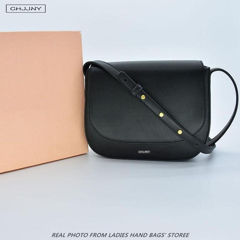 Mansur Gavriel brand genuine leather small crossbody bags for women saddle girls messenger bag frauen designer shoulder handbags