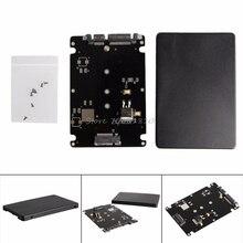 مقبس مفاتيح B + M 2 م. 2 (SATA) SSD إلى 2.5 بطاقة محول SATA مع حافظة Whosale & دروبشيب
