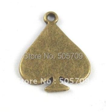 225 шт. состаренная бронза сердечными амулетами A15496B
