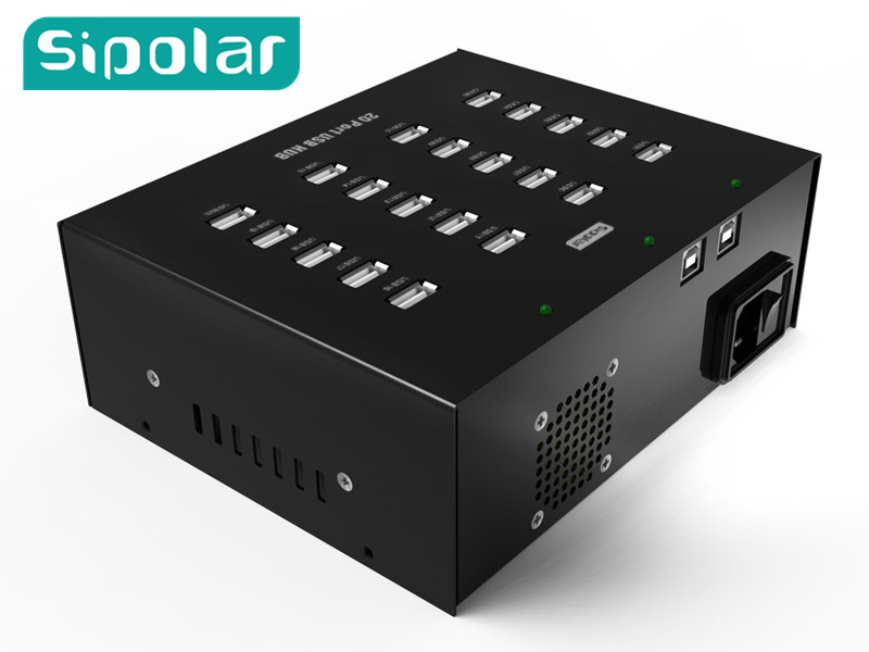 2017 New arrival Sipolar 20 port usb 2.0 hub provide data transmission for  HW 3g modems orico usb hub 20 usb ports industrial usb2 0 hub usb splitter with 2 models data transmission ih20p