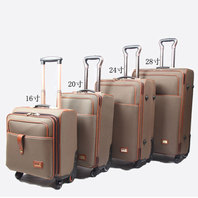 Polyester suitcase luggage sets women & men's travel bags trolley ...