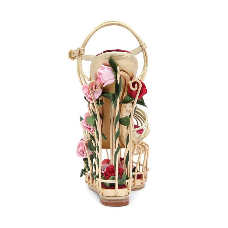 Frühling Sommer Neue Frauen Schuhe Mode Luxus Tie up Birdcage Hochzeit T gebunden Schuhe Hochwertige Angepasst Hohe schuhe mit hohen absätzen - 2