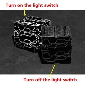 Image 5 - دعائم كوسبلاي إتوماتا 9S 2B صندوق أسود مضيء أبيض يورها No.9 نوع S No.2 نوع B المكعب السحري