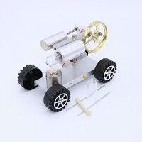 Mini Hot Creative Air Stirling Engine Motor Model Educational Toy Car Kits Goods