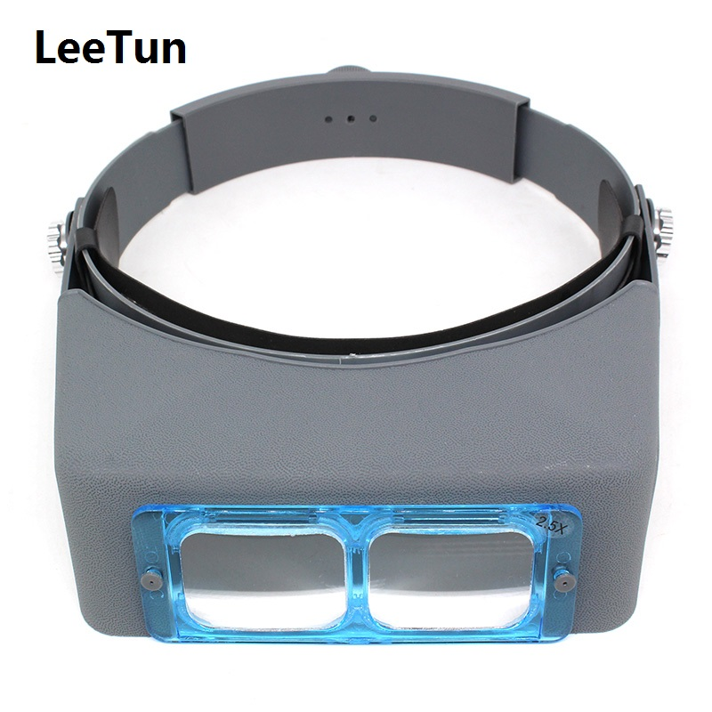 1.5X / 2.0X / 2.5X / 3.5X Optivisor Headband Magnifier Watch Repair Loupe Magnifying with one ABS Plastic Lens стоимость