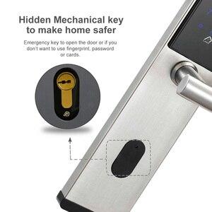 Image 3 - 電子ドアロック、スマート Bluetooth デジタルアプリ Wifi キーパッドコードキーレスドアロック、パスワードキーレスドアロック