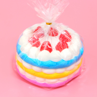 1Pcs 12CM Upscale Jumbo Squishy Rainbow Strawberry Birthday Cream Cake Super Slow Rising Scented
