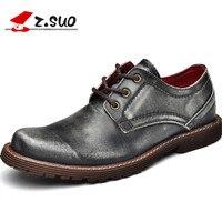 Z. Suo mannen laarzen, zilver kant business real lederen laarzen, casual mode eerste laag van lederen schoenen. Zapatos de cuero zs2311