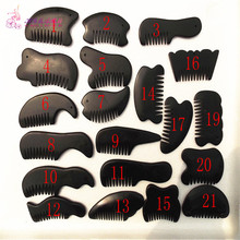 1 Pack =21 Pcs natural black basalt stone relax guasha board for wrinkle removal whitening face care beauty equipment tools