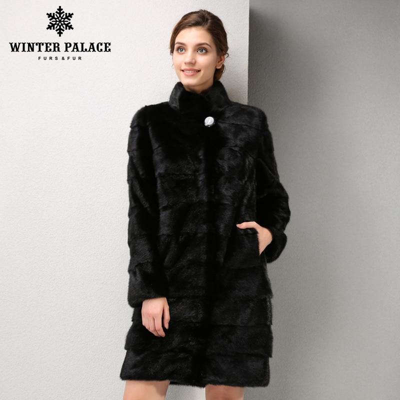 new models fashion mink fur coat, mink fur coat black, coat of natural mink fur, mink fur coat is very convenient Free shipping