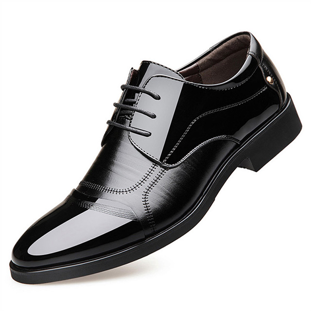 Spring Fashion Oxfords Business Men Shoes Genuine Leather Mens Dress Shoes Breathable Formal Shoes Comfort Male Wedding Shoes