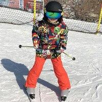 Winter Ski Jacket Boy Children Kids Ski Suit Warm Snowboard Snow Suit for kids Sets Waterproof Windproof Ski Clothing