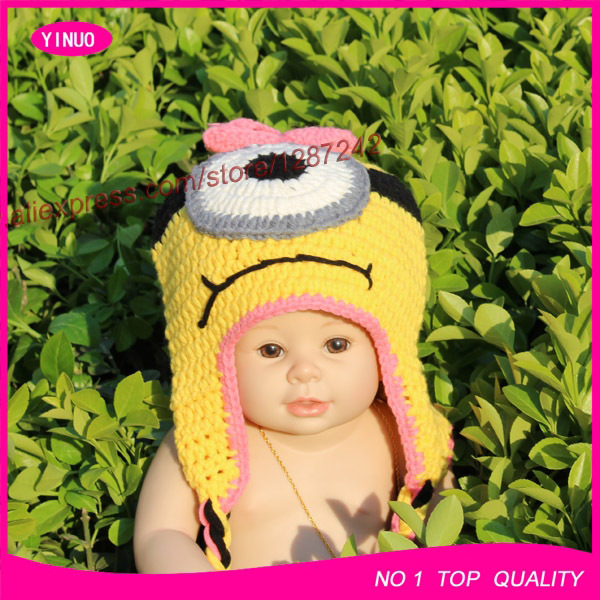 6 Style Handmade Crochet Newborn Baby Despicable Me Hat Crochet