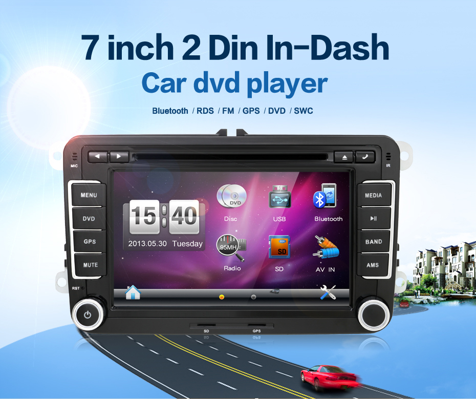 Double 2 Din Car Stereo DVD Player GPS Bluetooth Volkswagen VW Skoda PASSAT TIGUAN Bora Touareg GOLF 5 6 4 Fabia Superb - juguar Store store