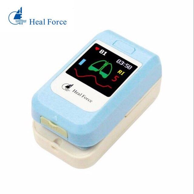 Hot Heal Force PC-60N Fingertip Pulse Oximeter Blood Oxygen Monitor Heart Rate Patient SPO2 Probe Sensor Digital For Health Care
