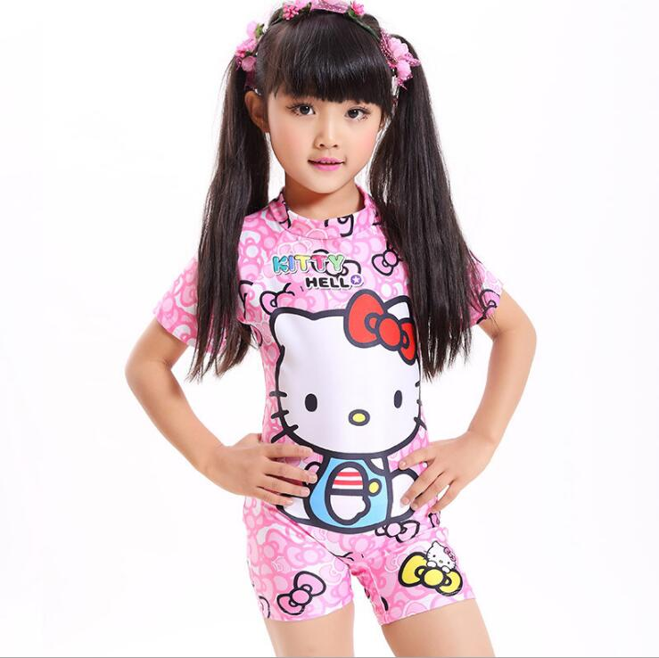 2017 kids One Piece Swimwear Cute Character Style Girls ...