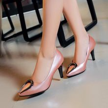 Oxford Shoes For Women Sale Fivecolors Plus Size 34-48 2017 New Fashion High Heels Women Thin Heel Redsilvery Sexy Shoes 023-1