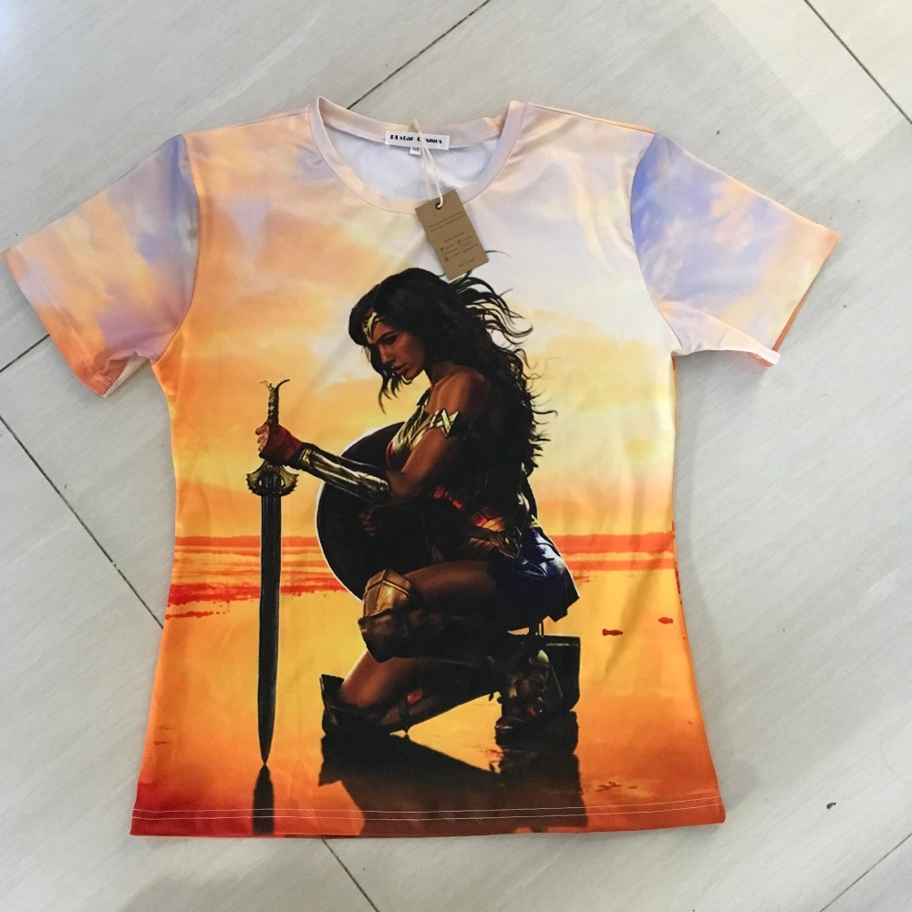 Plstar cosmos superhero movie wonder woman t-shirts diana prince 3d print men women fashion t shirt 2017 summer style t shirt-3