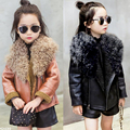 New Autumn Winter Kids Clothing Leather Jacket Girls Fashion Jacket Kids leather jackets for girls Outwear Girls Coat Clothing