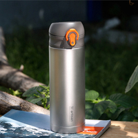 Tiartisan 400ml Titanium Double Wall Vacuume Water Bottle Outdoor Travel Mug Flask Water Vacuum Insulated Thermal Cups Ta8396