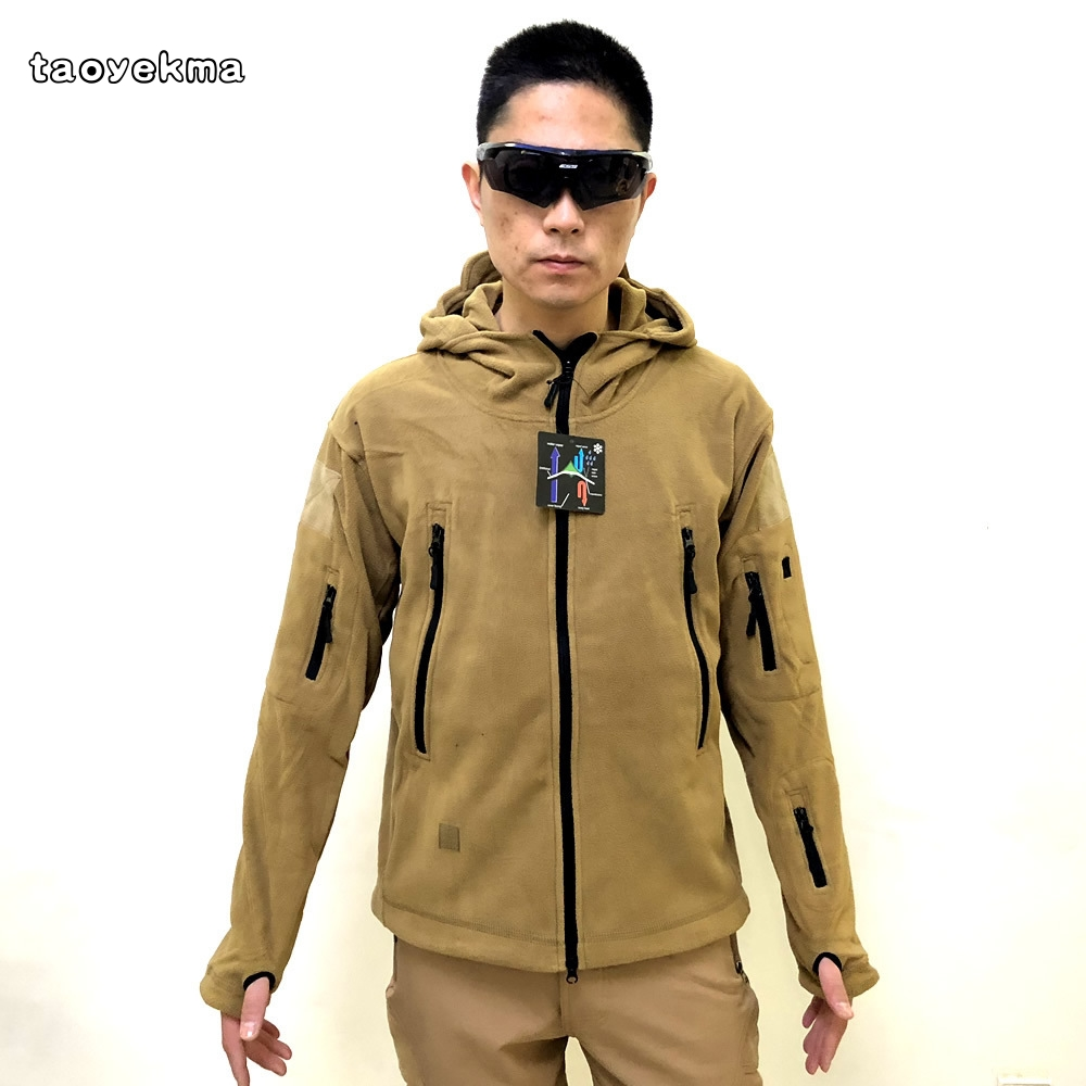 New Military Tactical Comfortable Outdoor Soft Shell Fleece Jacket Men Army Sportswear Thermal Hunt Hiking Sport Hoodie Jackets hunting jackets waterproof camouflage hoodie men s army military outdoor soft shell tactical jacket military camo army clothing
