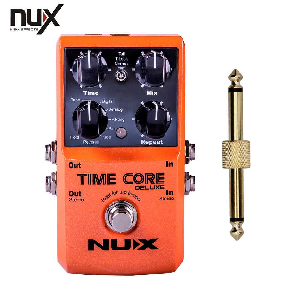 NUX Temps Core Deluxe Retard Pédale fournissant différents types de retards, à la le plus loin possible ambiance + 1 pc pédale connecteur
