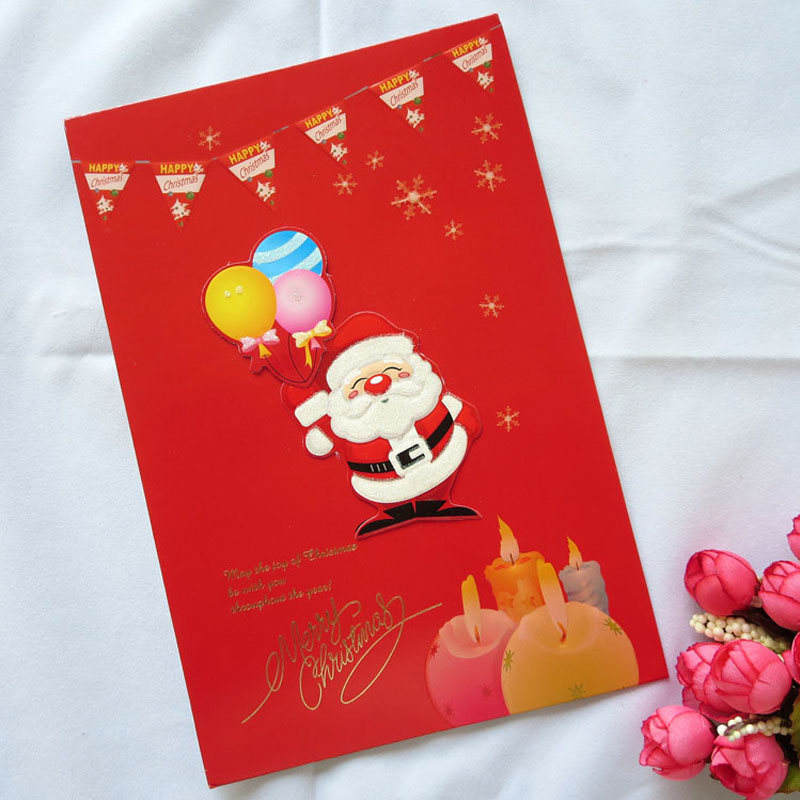 10 pcs Festival Gifts Handmade High End Merry Christmas Cards Cute ...