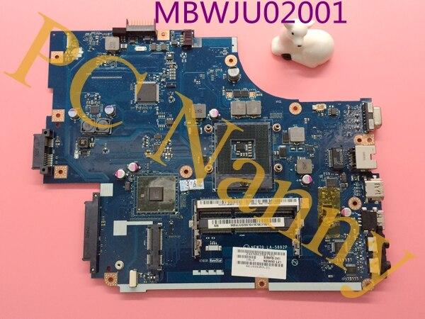 ФОТО MBWJU02001 NEW70 LA-5892P Laptop Motherboard for Acer 5741 Gateway nv59c HM55 GMA HD DDR3 Mainboard