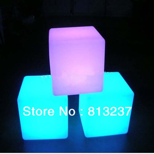 Free shipping led furniture! Modern rechargable led cube chair  for indoor and outdoor 30*30*30CM