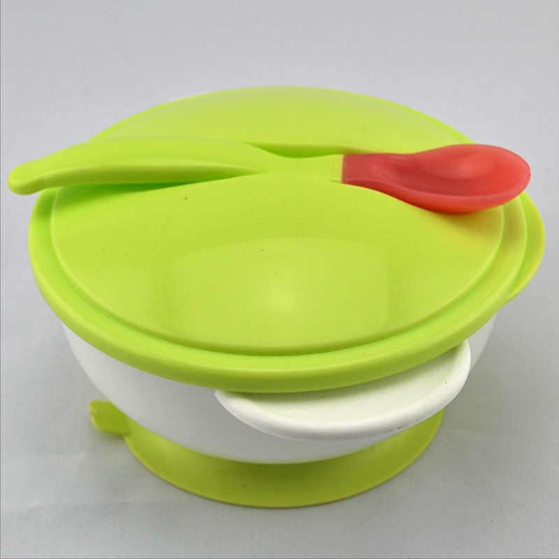 เด็กอาหารเด็กชุดการฝึกอบรม Sucker ชามช้อนเด็กวัยหัดเดิน Slip อาหารเย็นอาหาร T0519