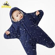 KAVKAS/Новое поступление Starfish спальный мешок для малышей Зимние Детские мешок для сна теплый детское одеяло для пеленания Sleepsacks Детские коляски спальный