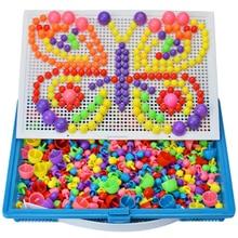 296 Грибная головоломка для ногтей, обучающая Дидактическая интеллектуальная игра, сделай сам, пластиковая доска, детская развивающая игрушка, случайный цвет