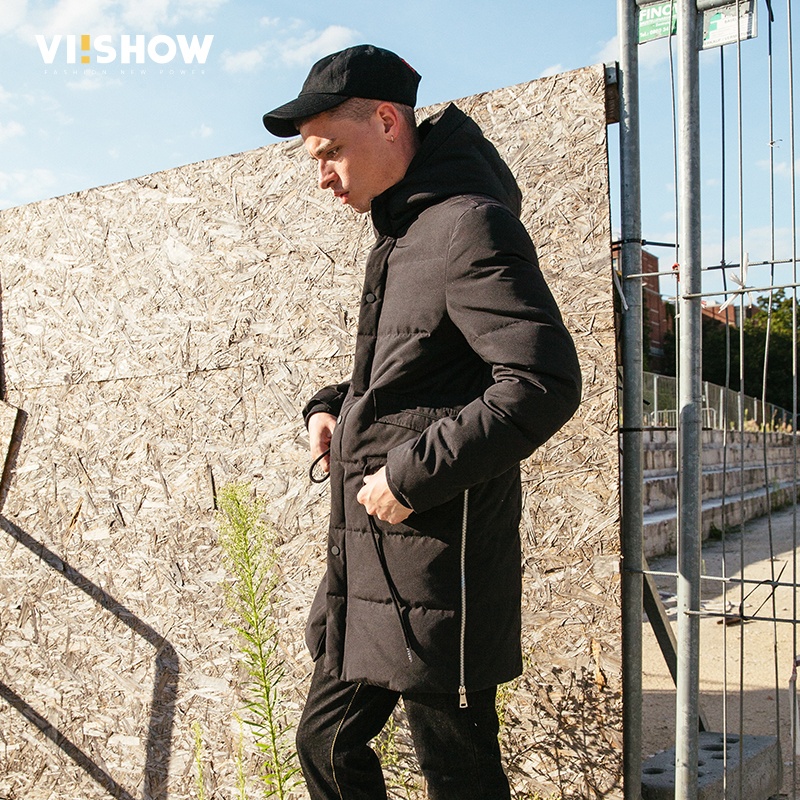 VIISHOW Thick Winter Down Jacket Men Warm New Fashion Brand Clothing Top Quality Long Male 90% White Duck Down Coat YC2650174 viishow 2017 new long winter jacket men brand clothing male cotton autumn coat new top quality black down parkas men mc2118174